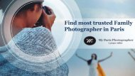 Find most trusted Family Photographer in Paris