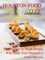 Corporate Catering Is an Opportunity to Thank People Who Make Your Business a Great Success