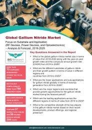 Gallium Nitride Market Forecast, 2019-2029