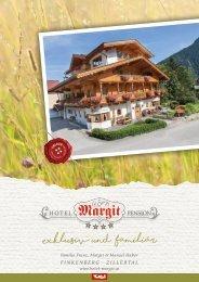 Hotelprospekt Hotel Margit, Finkenberg