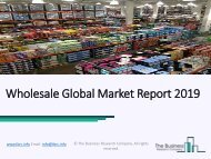 Wholesale Market Strategies And Forecast Worldwide 2019 to 2022