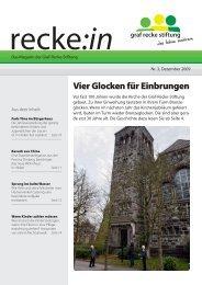 recke:in - Das Magazin der Graf Recke Stiftung Ausgabe 3/2009