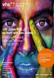 Volkshochschule Füssen: Programmheft Herbst/Winter 2019/20
