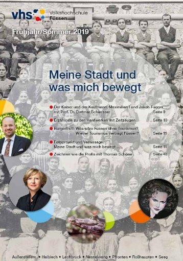 Volkshochschule Füssen: Programmheft Frühjahr/Sommer 2019