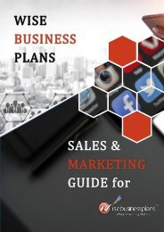 Wise Business Plan Sales & Marketing Guide (2)