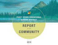 Puget Sound Educational Service District 2019 Report to the Community