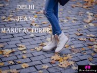 Delhi Jeans Manufacturer - Blackicing