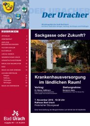 Der Uracher KW 44-2019