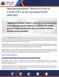 Sphygmomanometer Market to Grow at CAGR of 8% in the Upcoming Period 2018-2023
