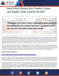 Steel Wheel Market Key Vendors, Status and Supply Chain Analysis till 2023