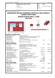 Cavity wall with openings and windposts design to Eurocode
