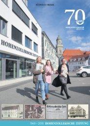 70 Jahre Hohenzollerische Zeitung
