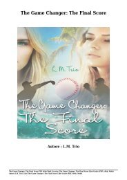 Scarica The Game Changer- The Final Score Libri Gratis (PDF, ePub, Mobi) Di L.M. Trio