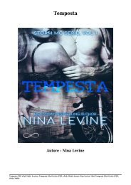 Scarica Tempesta Libri Gratis (PDF, ePub, Mobi) Di Nina Levine