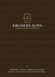 Seminar   Event   Veranstaltungen im Krumers Alpin 4*S, in Seefeld in Tirol