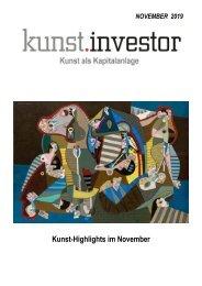 KUNSTINVESTOR AUSGABE NOVEMBER 2019
