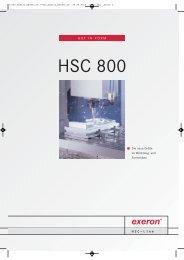 HSC 800 – die neue Größe im Werkzeug- und ... - Exeron GmbH
