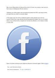 Marketing Digital - Robô milionário - Facebook
