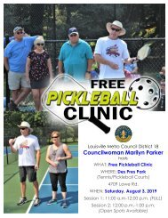 Pickleball Clinic at Des Pres Park