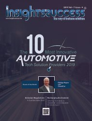 The 10 Most Innovative Automotive Tech Solution Providers 2019