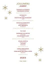 Baltic Princess Christmas menu 2019