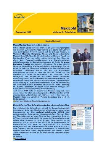 September 2003 - MaxicoM GmbH