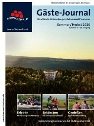 Schwarzwald Gäste-Journal Sommer/Herbst 2020
