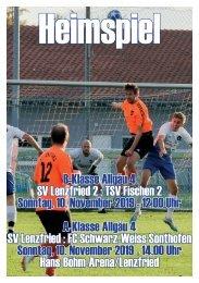 SV Lenzfried Heimspiel Ausgabe 6 Saison 2019-2020