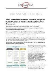 Pressemitteilung Abo Calligraphy Cut 360 Grad