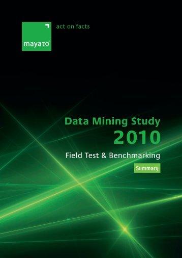 Data Mining Study 2010 - mayato