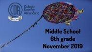 6th grade November Bulletin