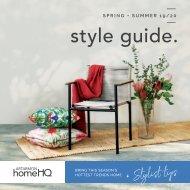 Homehq Artarmon Style Guide Winter 2020