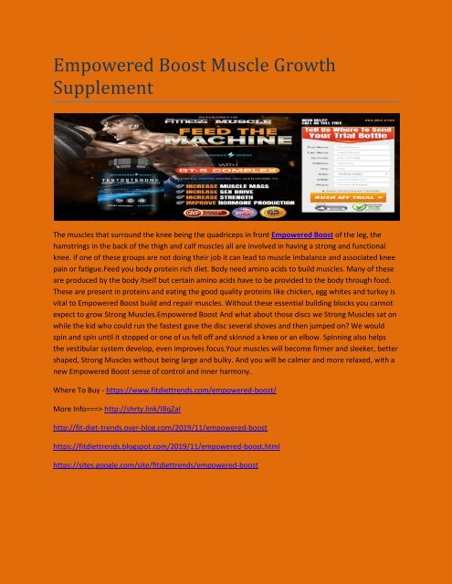 Empowered Boost Muscle Growth Supplement
