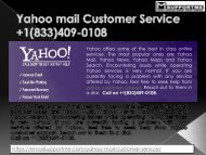 Yahoo Customer Support PHone Number  +1(833)409-0108​  yahoo contact number