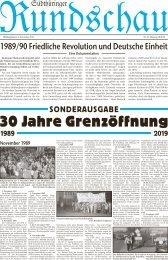 Sonderausgabe 30 Jahre Grenzöffnung