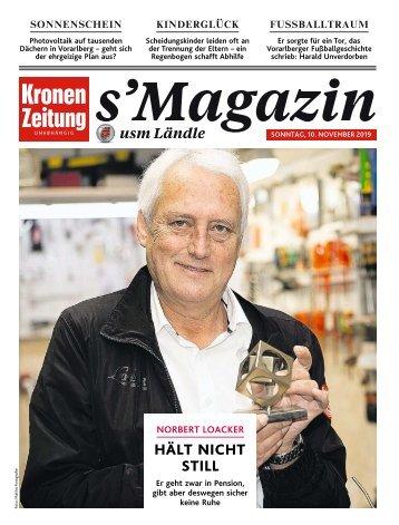 s'Magazin usm Ländle, 10. November 2019
