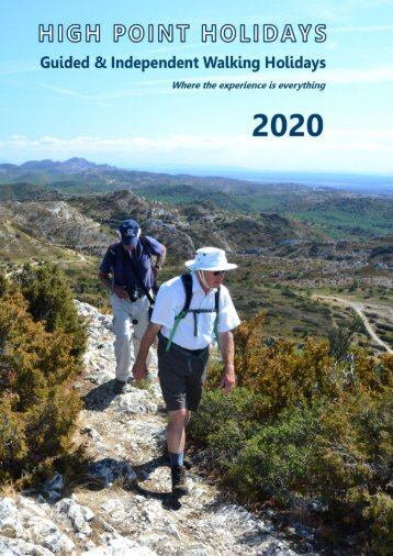 High Point Holidays Walking Holidays Brochure 2020