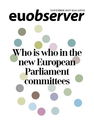 Who is who in the new European Parliament committees