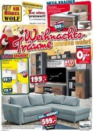Weihnachtsträume werden war - SB-Möbel Wolf - 3x in Brandenburg