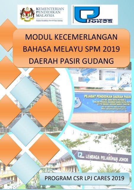 Modul Bm Spm Ppd Pasir Gudang Program Csr Lpj Cares 2019