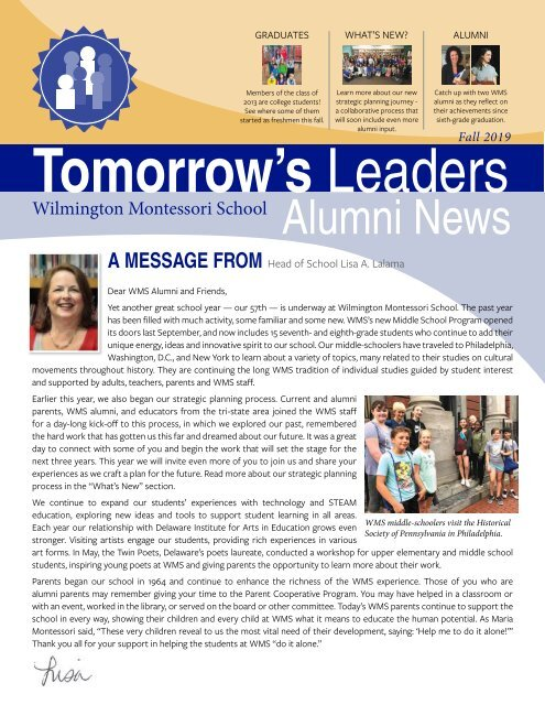 2019 WMS Alumni Newsletter_final