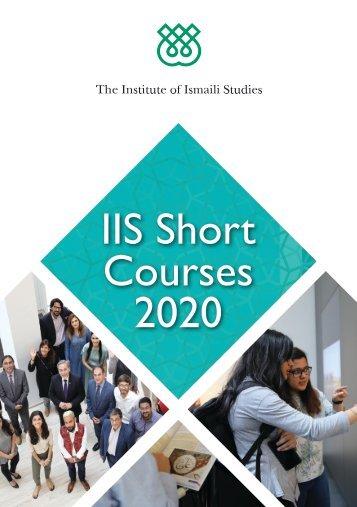 IIS Short Course Catalogue 2020