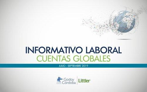 Informativo Cuentas Globales Julio Septiembre 2019