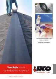 Ventilaţia soluţia optimă pentru acoperişul - IKO Sales International