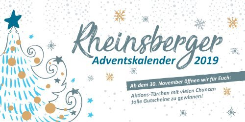 Rheinsberger Adventskalender 2019