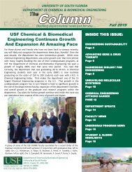 USF ChBME Department Newsletter-Fall 2019