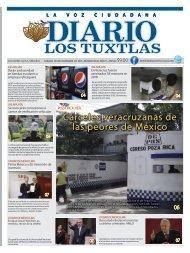 Edición de Diario los Tuxtlas del día 09 de Noviembre de 2019