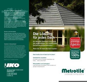 Allgemeine Informationen zu IKO Dachschindeln und Metrotile ...