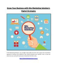 Grow Your Business with Site Marketing Solution's Digital Strategies