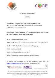 AGENDA - Training Programme